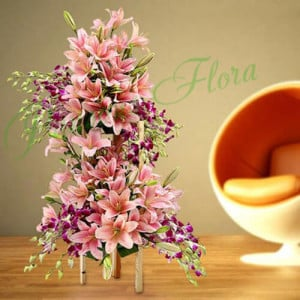 Love in Paradise - Flower Basket Arrangements Online