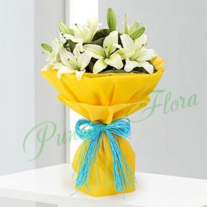 Love Of Lilies - Anniversary Flowers Online
