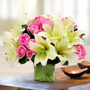Mesmerising Charm - Glass Vase Arrangements