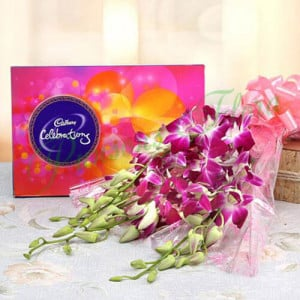 Orchids Enchantment - Send Diwali Flowers Online