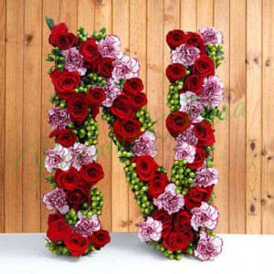 Personal Alphabet Budding Love - Send Diwali Flowers Online
