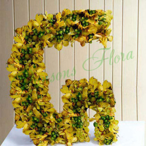 Personal Alphabet Grace - Flower Basket Arrangements Online