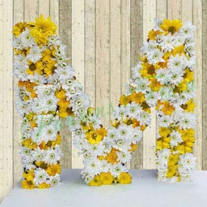 Personal Alphabetic Beauty - Flower Basket Arrangements Online