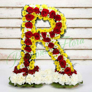 Personal Alphabetic Fashionista - Flower Basket Arrangements Online