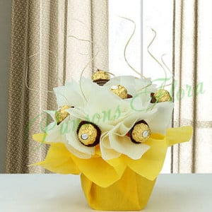 Rocher Surprise For Icici - Online Christmas Gifts Flowers Cakes