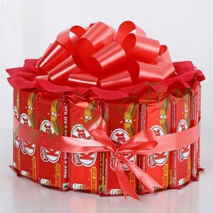 Sweet KitKat Bouquet - Online Christmas Gifts Flowers Cakes