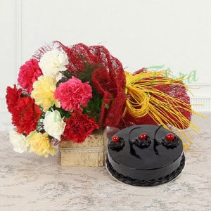 Sweetest Surrender - Flowers and Cake Online
