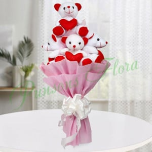 Teddy Bouquet - Anniversary Flowers Online