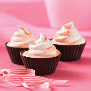 Butterscotch Top Pink 6 Cup Cake - Send Cup Cakes Online