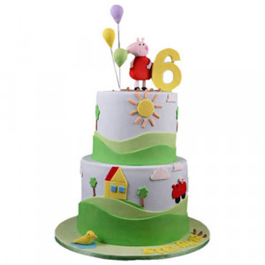 Peppa Pig House Cake - Birthday Cake Online Delivery - Online Cake Delivery in India