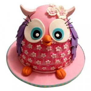 Pinki The Owl Cake - Birthday Cake Online Delivery - Online Cake Delivery in India