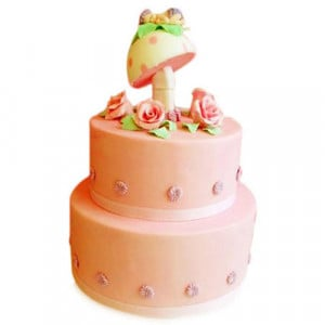 Baby In An Angel'S Garden - Birthday Cake Online Delivery