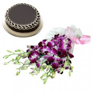 Exotic Orchids n Cake - Same Day Delivery Gifts Online