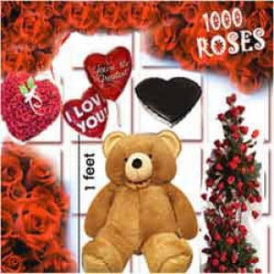 1000 Roses Love Special - Send Best Flowers Arrangement Online