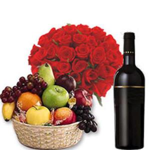 Fruits n Wine Hamper - Same Day Delivery Gifts Online