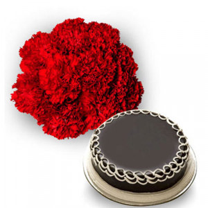 Carnations n Cake - Flowers and Cake Online