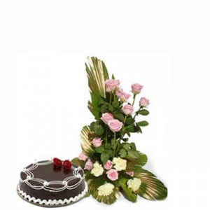 Magic of love - Flowers and Cake Online