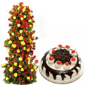 Unlimited Love - Birthday Cake and Flowers Delivery