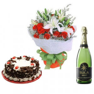 Passionate Flame - Flowers and Cake Online