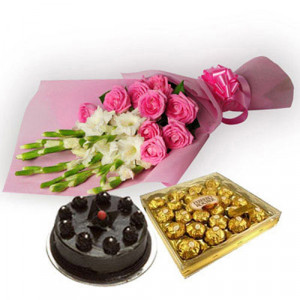 Precious Moment - Flowers and Cake Online