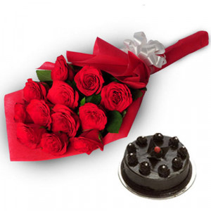 A Gracefull Gesture - Valentine Flowers and Cakes Online