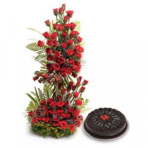 Love Never End - Valentine Flowers and Cakes Online