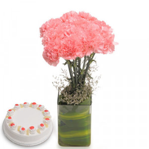 Pink Carnival Flowers - Birthday Cake and Flowers Delivery