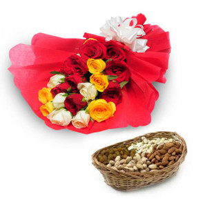 My Best Wishes - Buy Flowers with Dry Fruits Online in India