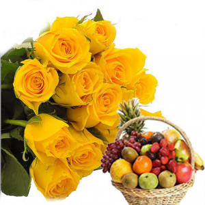 Healthy Mom - Flowers with fresh fruits online