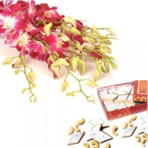 Warm N Best Wishes - Flowers with Sweets Online