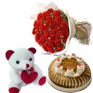 Carnation of Paradises - Flowers with Soft Toys online