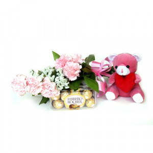 Great Gift - Flowers with Soft Toys online