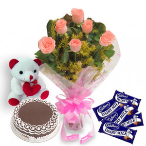 Pink Beautiz - Flowers with Soft Toys online