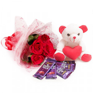 Flowers For You - Birthday Gifts - Flowers with Soft Toys online