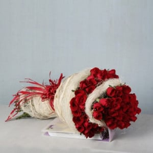 Deep Love 75 Red Roses - Kiss Day Gifts Online