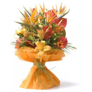 Thank You Bouquet - Online Flowers and Cake Delivery in Hyderabad