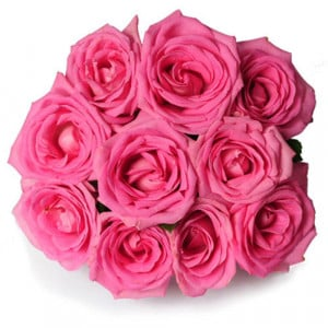 Perfect Love 10 Pink Roses - Send Mothers Day Flowers Online