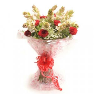 Rosy Delight - Send Mothers Day Flowers Online