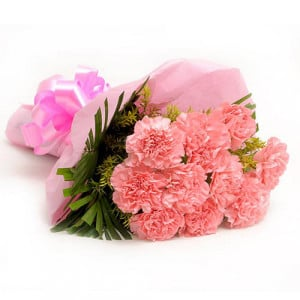 Combination 10 Carnations - Online Flowers and Cake Delivery in Hyderabad