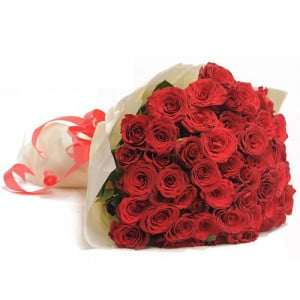 Red Hot 50 Roses - Send Mothers Day Flowers Online