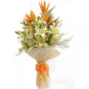 Exotic Bouquet - Send Lilies Online India