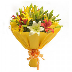 Colours Of Love - Send Lilies Online India