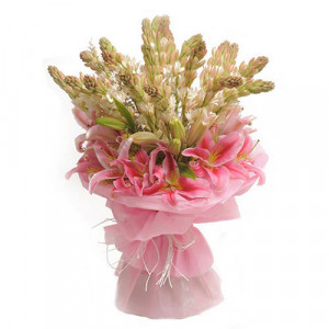 Tube Roses n Lilies - Send Birthday Gift Hampers Online