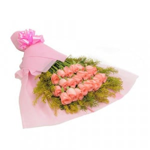 Blush 20 Baby Pink Roses - Send Valentine Gifts for Her