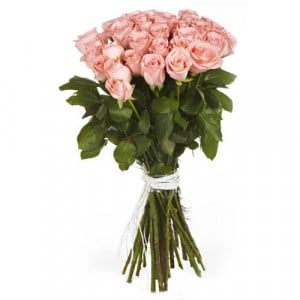 Make Me Blush 40 Pink Roses - Send Valentine Gifts for Husband