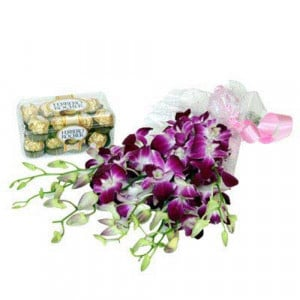 Orchids N Chocolates - Rose Day Gifts Online