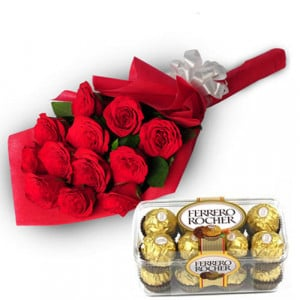 Charming Roses - Valentine's Day Flowers and Chocolates
