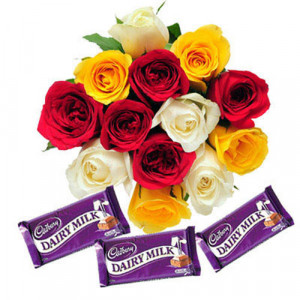 A Colorful Surprise - Rose Day Gifts Online