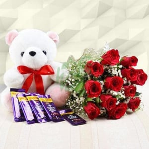 Always work - Flowers with Soft Toys online