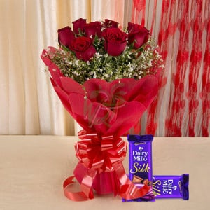 Affection Combo - Valentine's Day Flowers and Chocolates